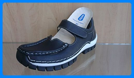 Wolky Mokassinslipper, Glattleder black, herausnehmbares Fußbett für eigene lose Einlagen, Rush 4704-200 (37 EU) - Slipper und mokassins für frauen (*Partner-Link)