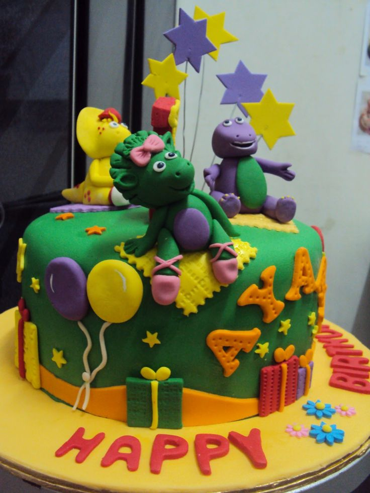 Barney and friends birthday cake