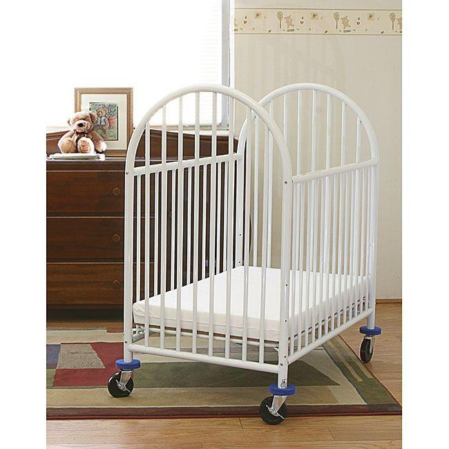 LA Baby Mini Portable Crib with Mattress