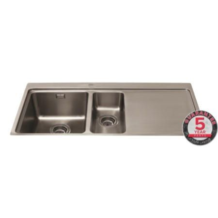 Buy GRADE A2 - CDA KVF22RSS Designer One And A Half Bowl Sink Flush Fit - Right Hand Drainer 77403991/1/KVF22RSS from Appliances Direct - the UK's leading online appliance specialist
