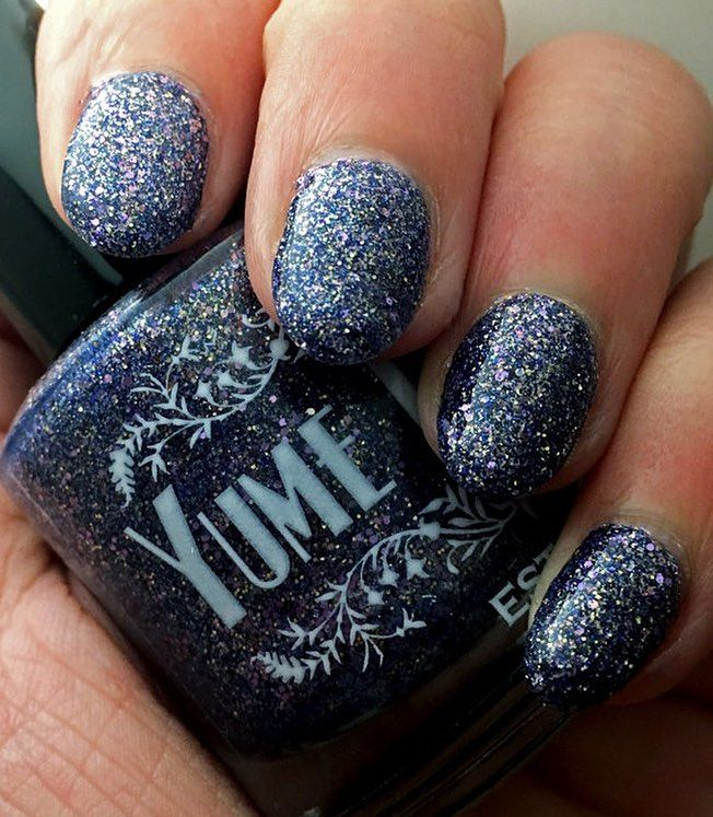 """Twister"" - #dragon type #pokemon inspired #nailpolish #instanails #jellypolish #geeky #nailsofig #nailsofinstagram #instabeauty #instafashion #nailstagram #nails #nailsofig #flakie #jelly #purple #gold #glitternails #glitternails"