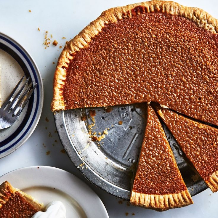 There's no maple syrup in this pie recipe (not a mistake), but the finished product will remind you of maple-sugar candies thanks to the caramel notes in the brown sugar.