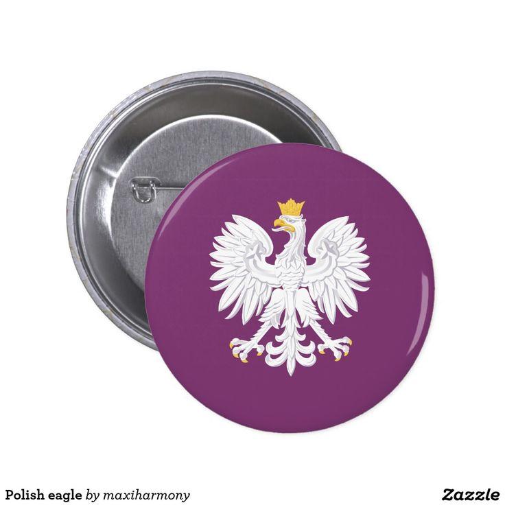 Polish eagle pinback button