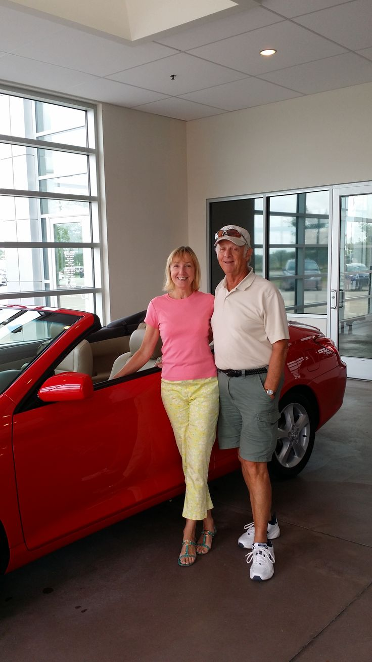 Jerry and Joanne Pilch with their new 2005 Camry Solara! Customers of Brandon Sells-Cars. — at Heiser Toyota.