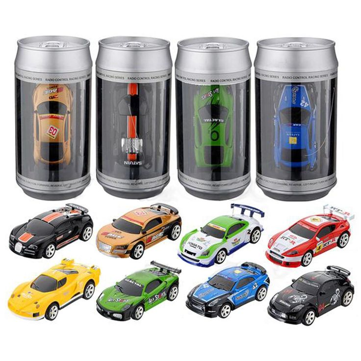 Coke Can Mini RC Car Radio Remote Control Micro Racing Car 4 Frequencies