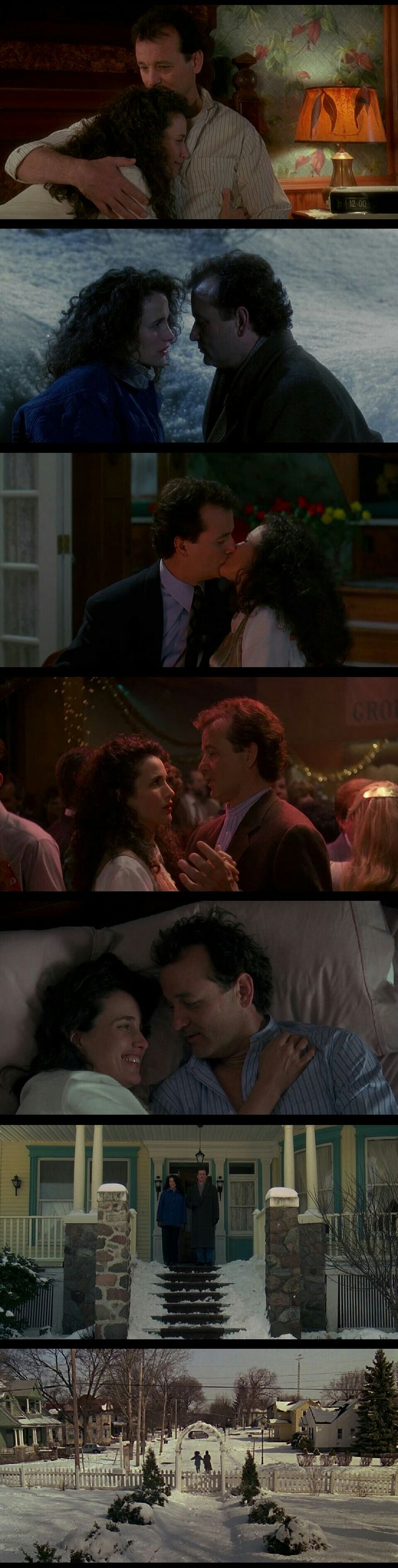 Bill Murray and Andie MacDowell in Groundhog Day(1993)