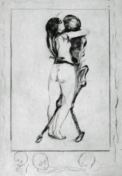 Death and the Maiden, Edvard Munch, 1894