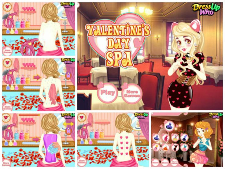 valentine's day spa game