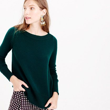 This sweater is proof that sometimes the simplest styles are the most perfect. This is one of our favorites of the season, thanks to its tightly woven round Italian yarns that give it a light and airy feel and a classic, chunky look. <ul><li>Relaxed fit.</li><li>Hits slightly below hip.</li><li>Wool.</li><li>Rib trim at neck, cuffs and hem.</li><li>Dry clean.</li><li>Import.</li><li>Online only.</li></ul>