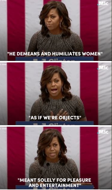 Michelle Obama on Donald Trump #US #Election #Feminism