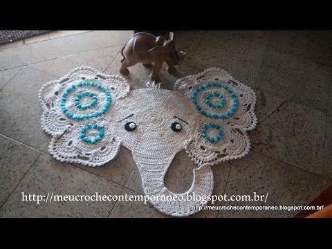 Tapete Elefantinha Graciosa 4ª parte Elephant Rug, part 4)