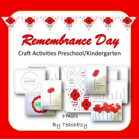 Remembrance Day Craft Preschool & Kindergarten.....Lilly says-Great activity. Finished product looked fabulous on the bulletin board. Thanks!