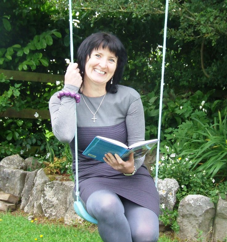 Hanging out on the swing at Book Hub Publishing Offices in County Galway.