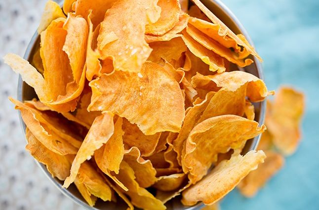 With only three ingredients, this recipe is bound to be your go-to when your pantry is running low. Trust us, the youngsters won't be missing those fattening potato chips once they get a taste of these bad boys. Yum! Get the recipe at Skinny Mom.