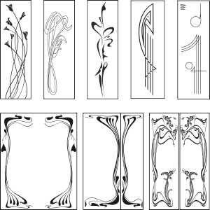 Free graphic downloads: Art Nouveau Designs. Vector Clipart. Free download.