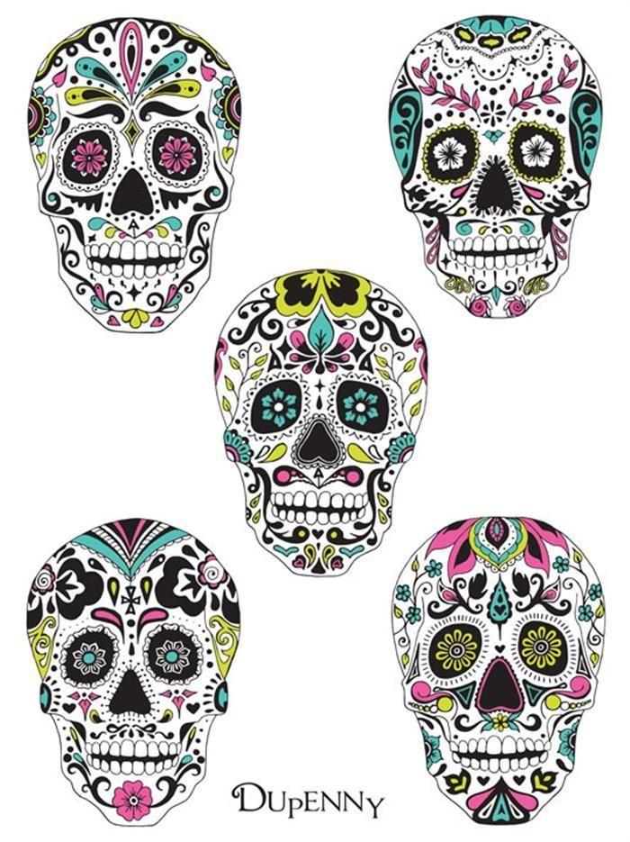 be4f7bee0c363 Image result for sugar skull tattoo small | Inked | Sugar skull ...