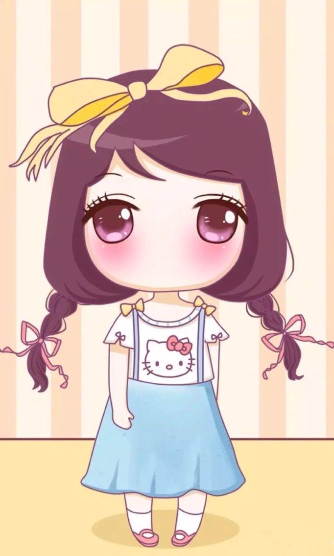 Wallpaper cute cartoon pinterest chibi girls and - Cartoon girl wallpaper ...