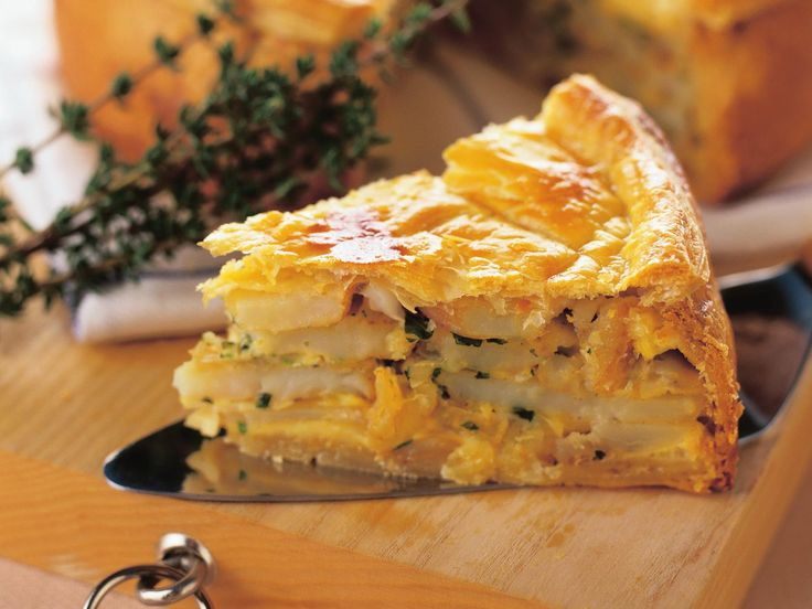 This potato, onion and herb pie makes a nice change from more meatier versions…