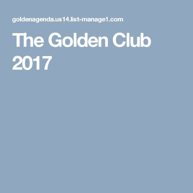 The Golden Club 2017