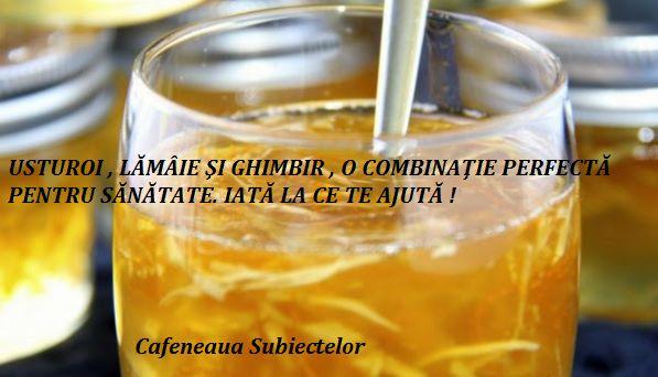 Cafeneaua Subiectelor : USTUROI , LĂMÂIE ŞI GHIMBIR , O COMBINAŢIE PERFECT...