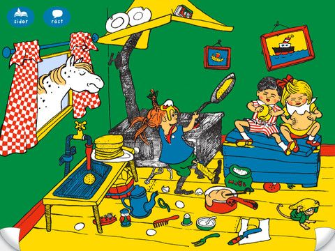 Känner du Pippi Långstrump? - Interaktiv bilderbok med spel och ...
