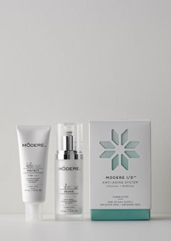 GET FREE  10 for Sign Up    The MODERE I D system brings an exclusive combination of botanical infusion and environmental skin defense  http   www modere com ProductDetail m1 anti aging collection  referralCode 859085