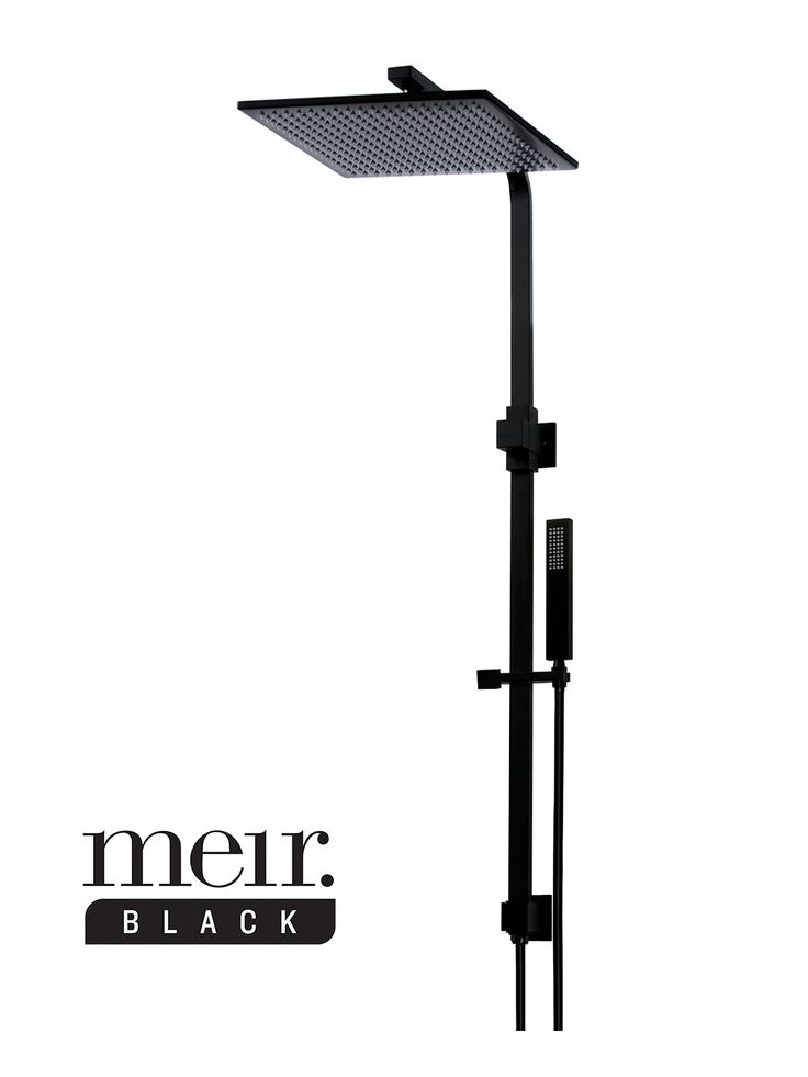 Classy, functional and elegant. The King Black Shower Rail provides both the rainfall shower and a hand-held shower wand in a flawless matte black finish.