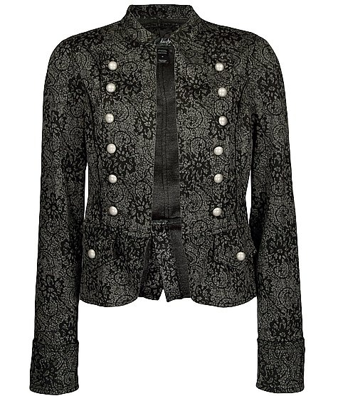 Daytrip Lace Print Military Jacket. Love this. My style is so weird. LOL.Mi Style, Fun Fashion, Military Jackets, Steampunk Jackets, Steampunk Style, Awesome Outerwear, Jackets Bought, Fun Clothing, Clothing Makeovers