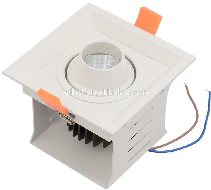 CE RoHS approved recessed square led grille ceiling light 8w L100*W100mm hole size for commercial