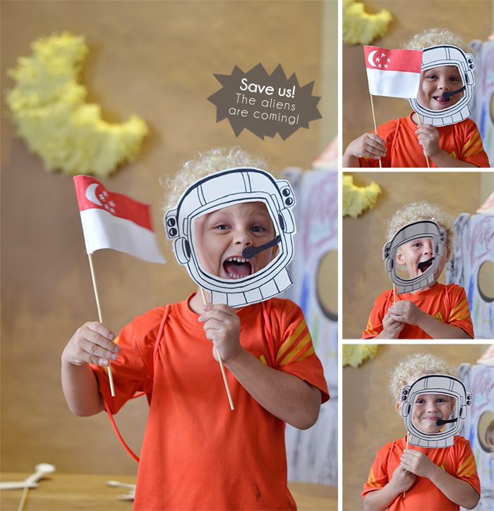Bloesem Kids | Craft project: Father's Day Printable photobooth props. I love you to the moon and back