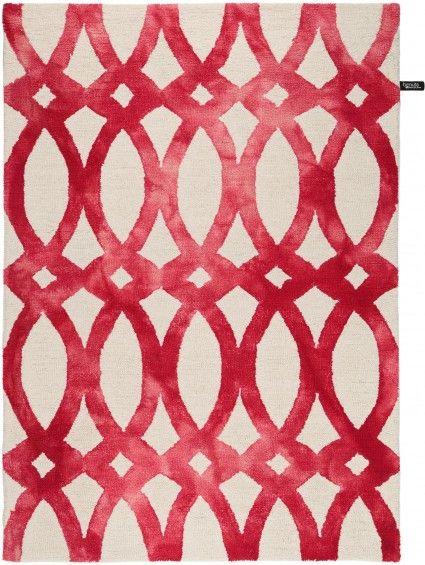 Wollteppich Dip Dye Rot 200x300 cm