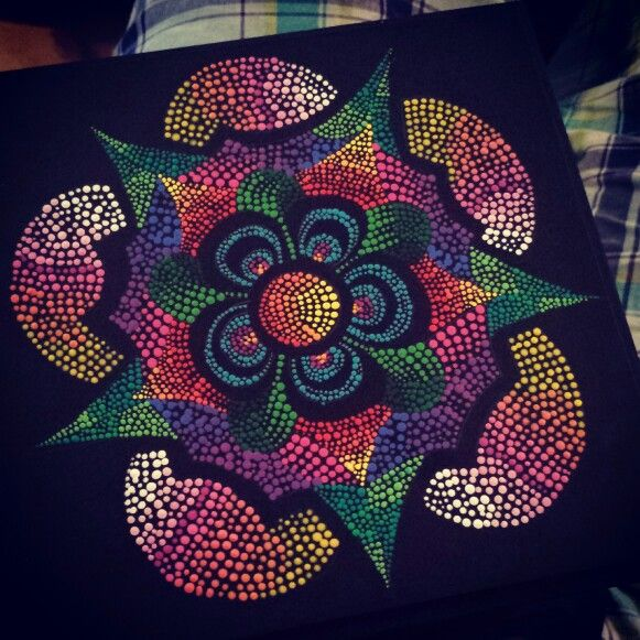 flor .. puntillismo.. my art