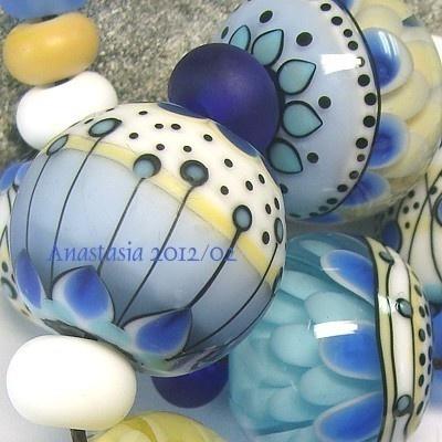 Anastasia Beads: Glasses Beads, Favorite Things, Anastasia Polymer Clay Beads, Lampwork Beads, Anastasia Beads, Anastasia Lampwork, Favorite Beads