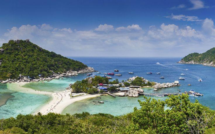 Het bijzondere Koh Nang Yuan: drie eilandjes voor met elkaar verbonden door een strand! #Thailand #Kohnangyuan #kohtao #rondreisthailand #originalasia