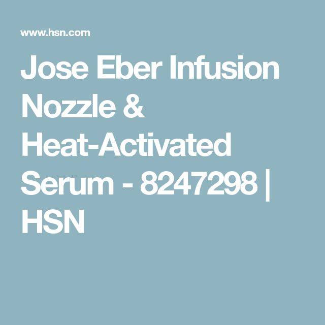 Jose Eber Infusion Nozzle & Heat-Activated Serum - 8247298 | HSN