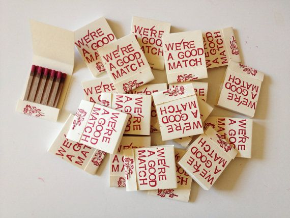 We're a Good Match Matchbooks - Set of 50 - Party/Wedding Favors on Etsy, $65.00