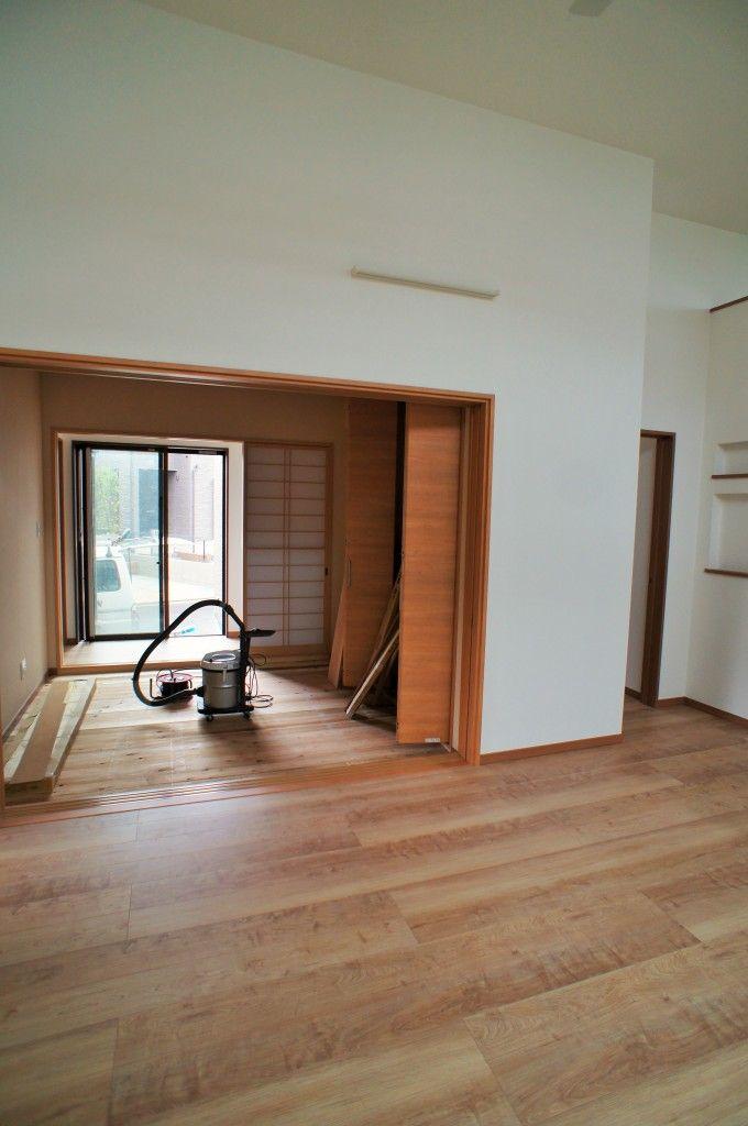 和室の横の廊下が縁側のようになっています 住宅 注文住宅 天井