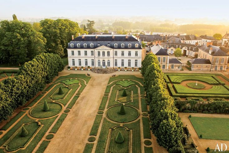 Château du Grand-Lucé, decorator Timothy Corrigan's residence in France's Loire Valley, was completed in 1764.