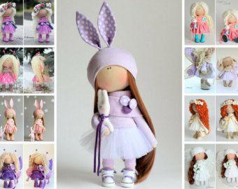 Baby doll doll Fabric doll Interior doll Handmade doll Textile