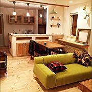 Kitchen,キッチンカウンター,アイアン,造作,吊り戸棚,モザイクタイルに関連する他の写真