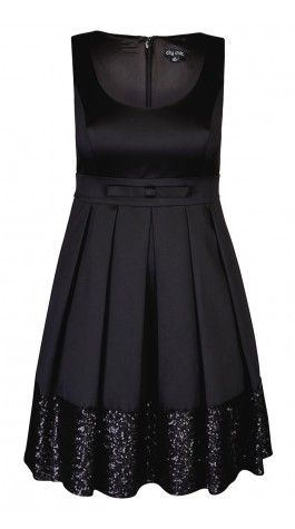 Plus Size Sequin Dance Dress - City Chic Love this LBD for the holidays or any special occasion!
