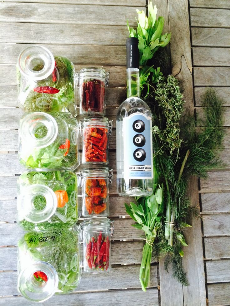 Farmer's Market Infusions for our Bloody Mary's Boarding House Nantucket Island