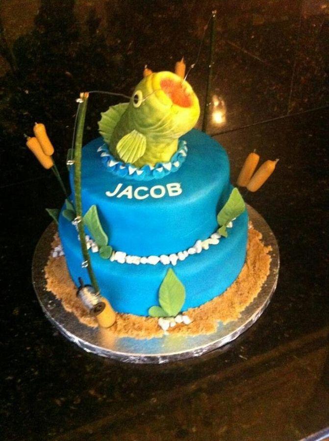 39 best Fishing Cakes images on Pinterest Fish cake birthday