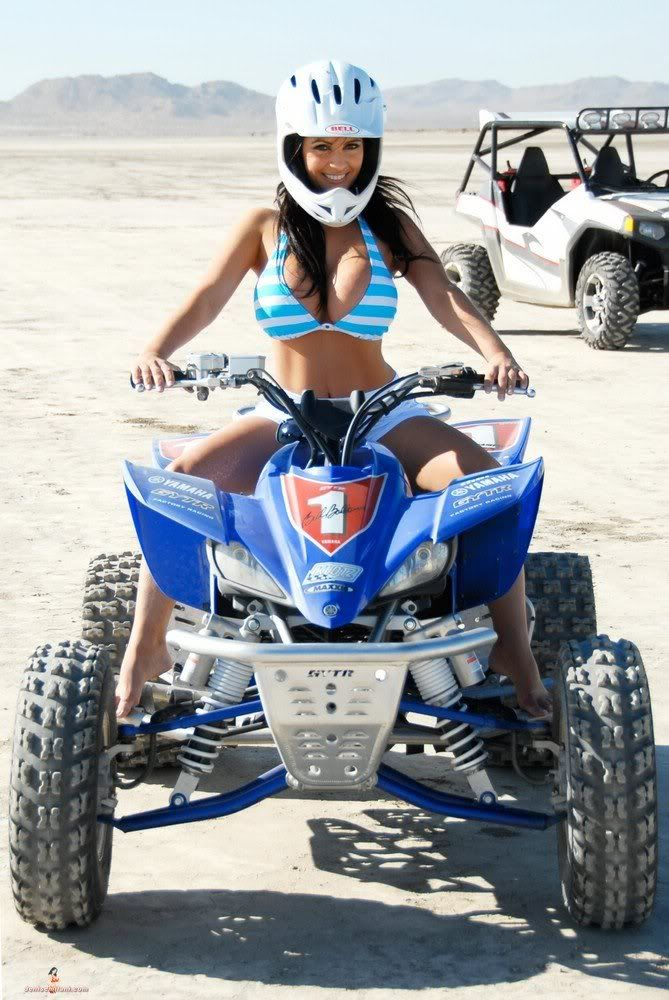 Are not Hot girl on a quad naked share