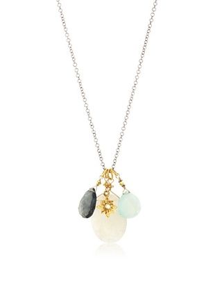 71% OFF Robindira Unsworth Moonstone Cluster Necklace