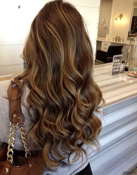Ash brown hair with blonde highlights