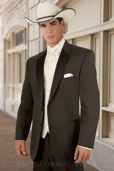 Stephen Geoffrey Cambridge Chocolate Western Tuxedo #style242