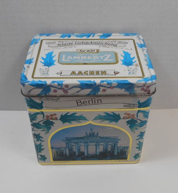 Musical German Lambertz Aachen Cookie Tin