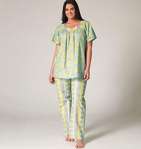 New Sleepwear Pattern From Kwik Sew Comes In Sizes 1x 4x