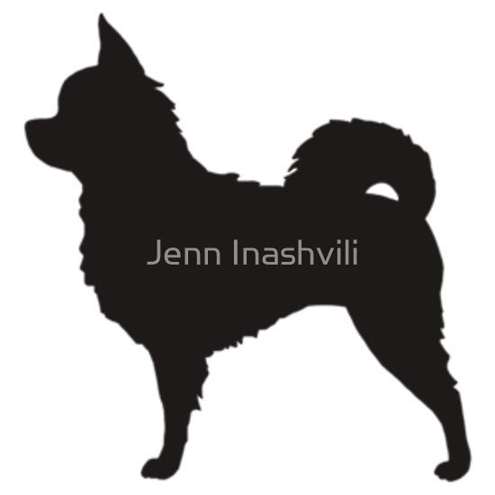 Long Haired Chihuahua Silhouette S Sticker Chihuahuas